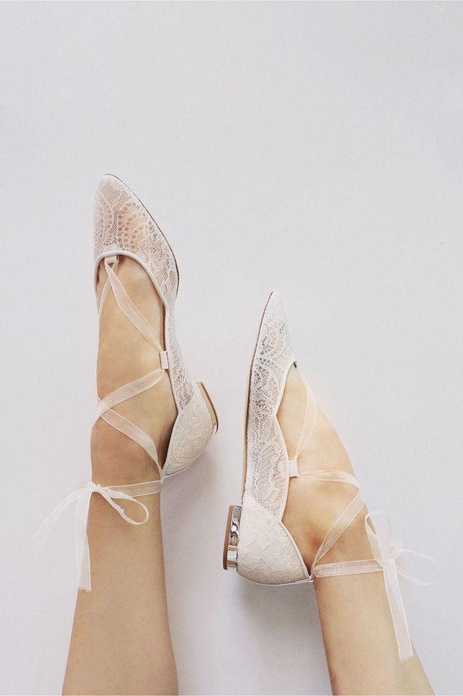 Ballet-Wedding-Shoes-666x1000 Sapato de noiva sem salto: elegância e conforto