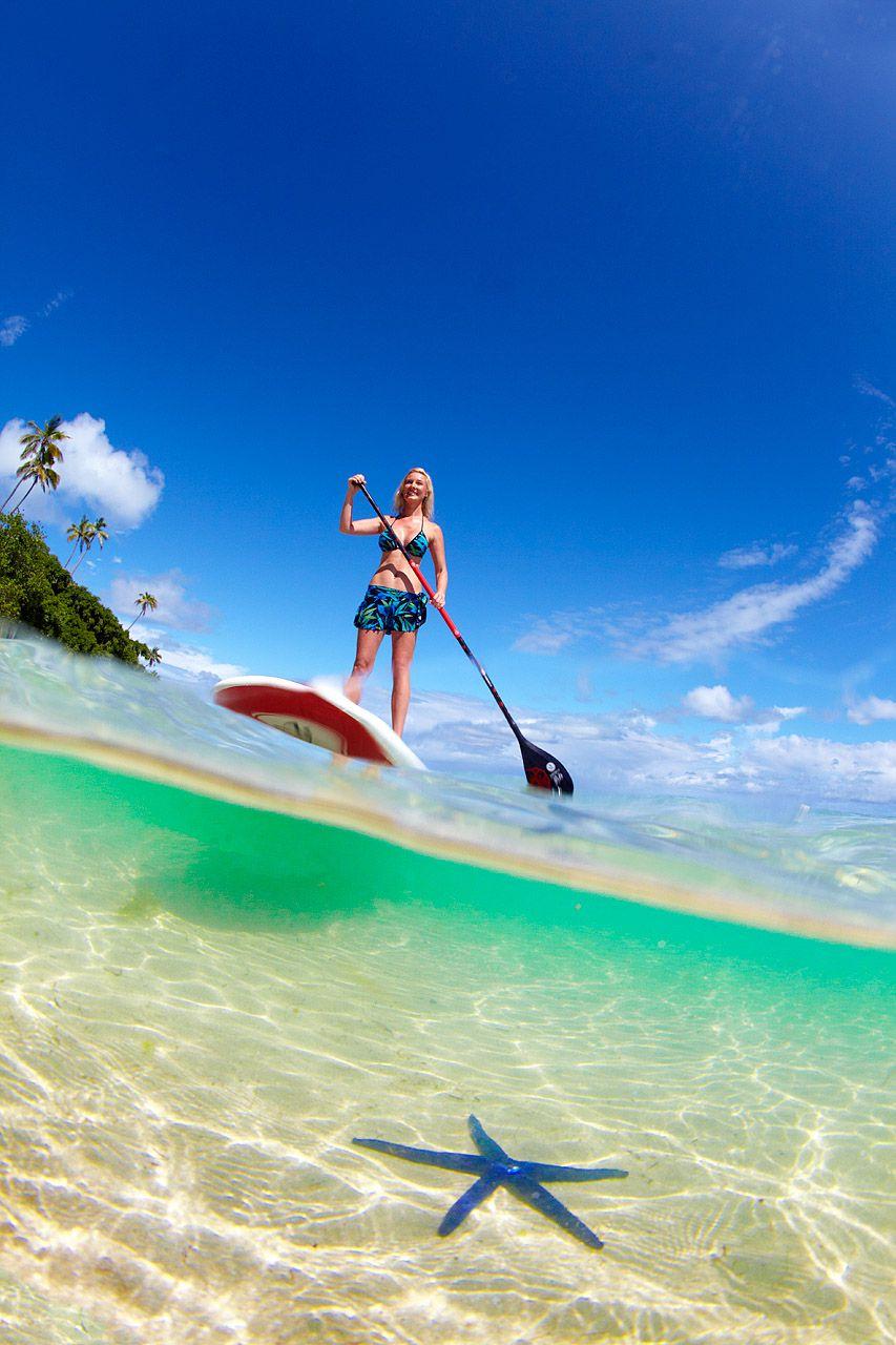 fiji-honeymoon-adventure-paddleboarding Lua de mel incrível em Fiji | Roteiros de Lua de Mel