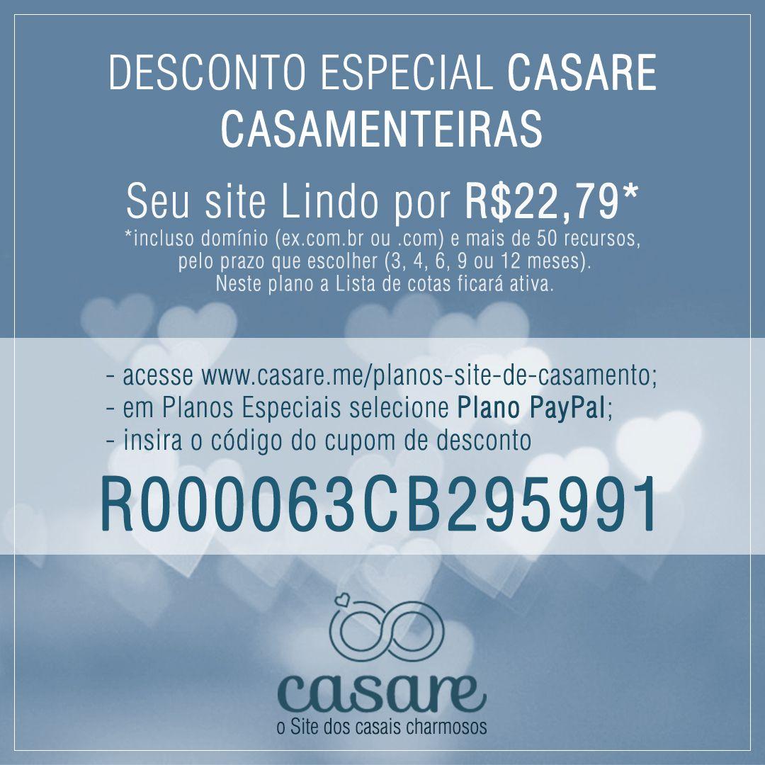 cupom_paypal_casamenteiras Casare, um caso de Sucesso | Site de Casamento