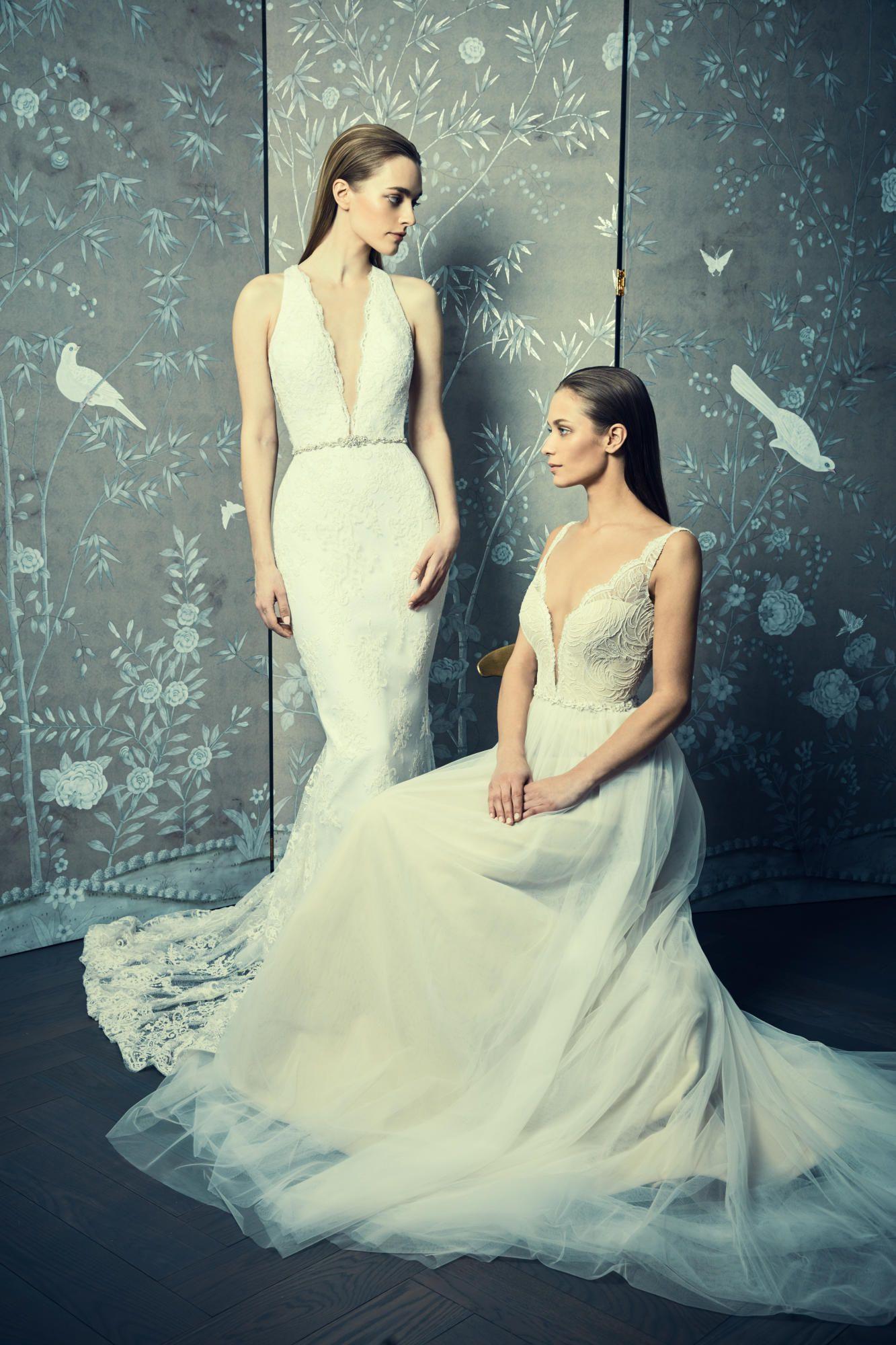 legends-romona-keveza-spring-2018-gowns-jeweled-belts Tendências de vestidos de noiva para 2018