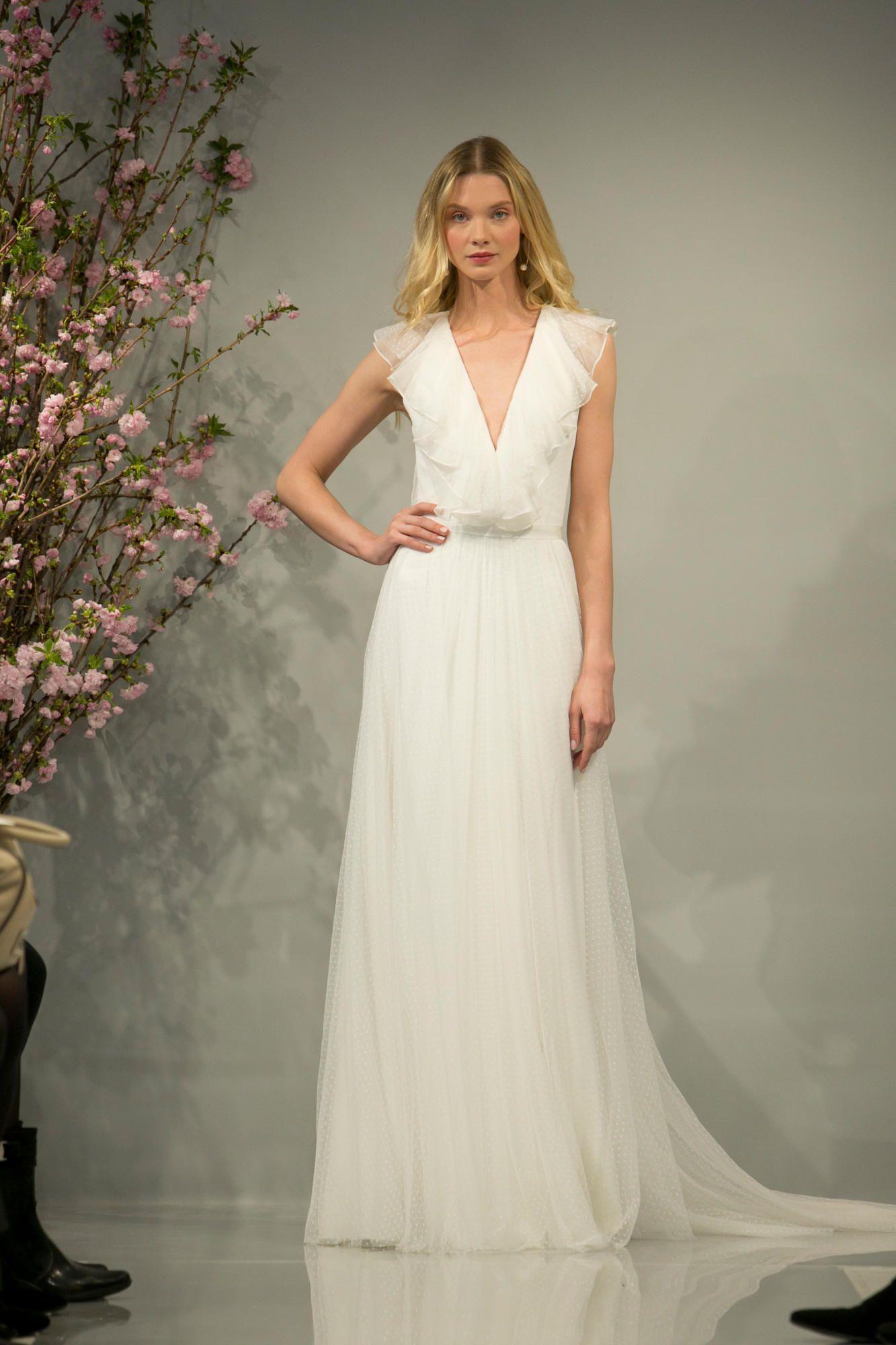 theia-spring-2018-bridal-70s-dress Tendências de vestidos de noiva para 2018