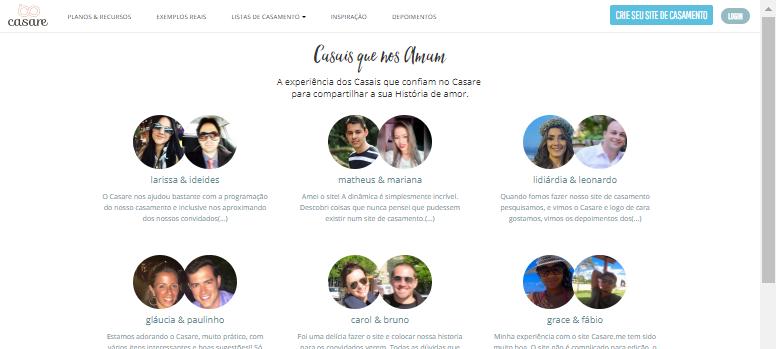 depoimentos-credibilidade Depoimentos, as referências de um Bom Serviço! | Sites de Casamento