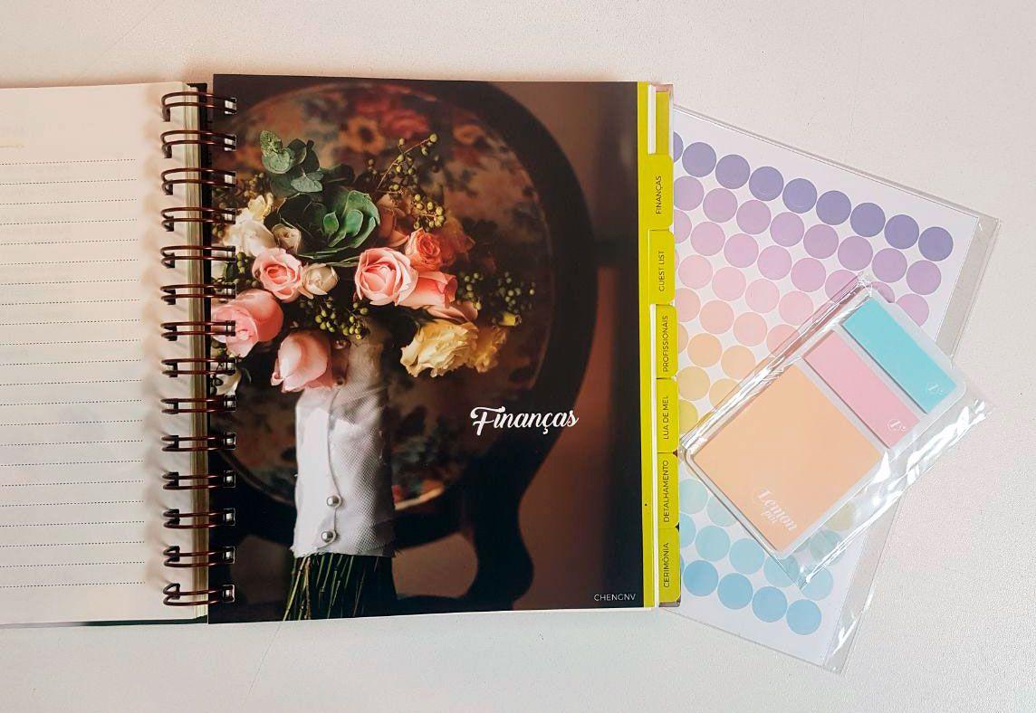 unpack3 Planner da noiva da Lemon Pin - organização e beleza | Novidade