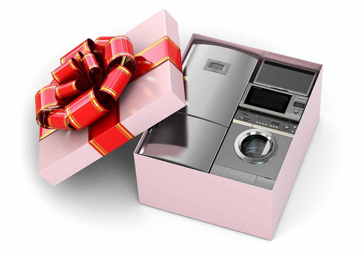 Home-appliance-in-gift-box 5 presentes criativos pedidos na lista de casamento