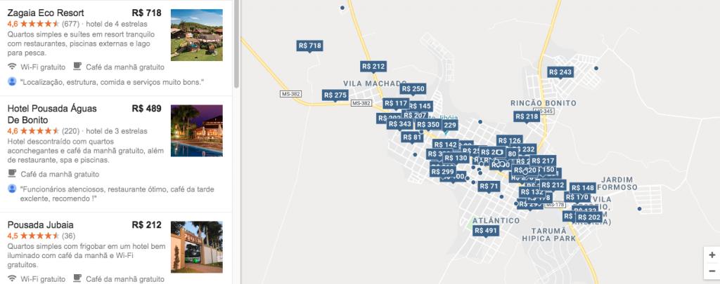 Pousadas e hotéis em Bonito