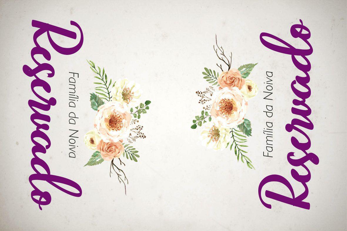 plaquinha reservado casamento para imprimir