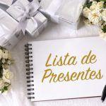 Mensagem dos noivos para os convidados na lista de presente