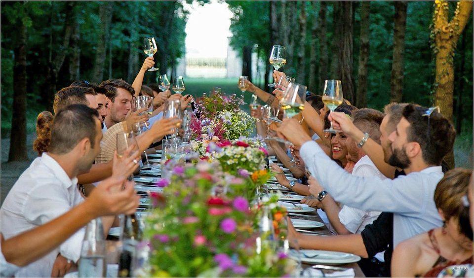 bebidas no casamento