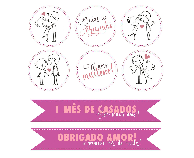 bodas de beijinho para imprimir