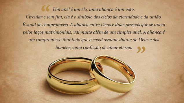 mensagem para a entrada da aliança de casamento 2