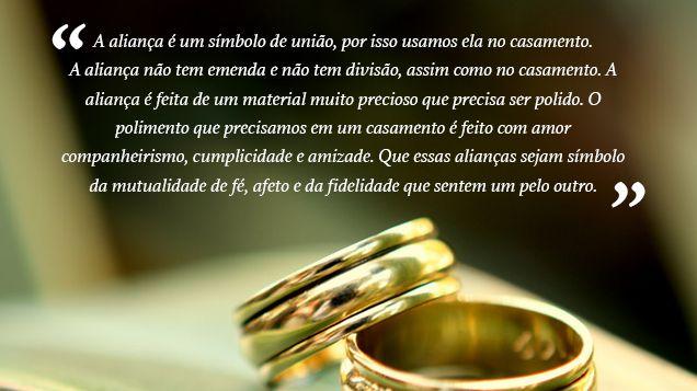 mensagem para a entrada da aliança de casamento 1