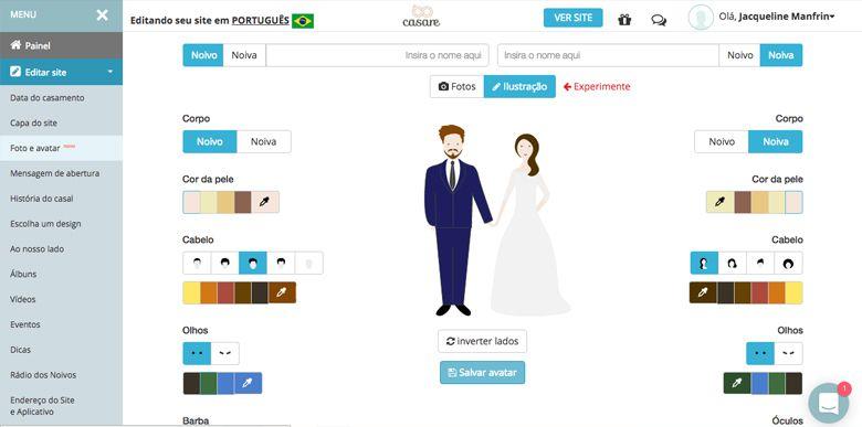 caricatura-de-noivos [Casamento] Caricatura de noivos online grátis