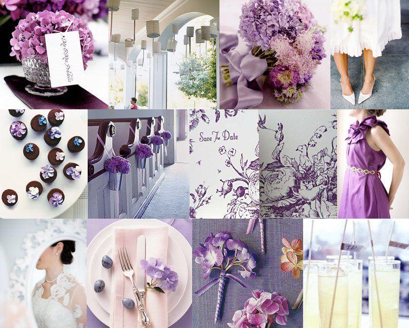 Lavanda, rosa e branco em casamento