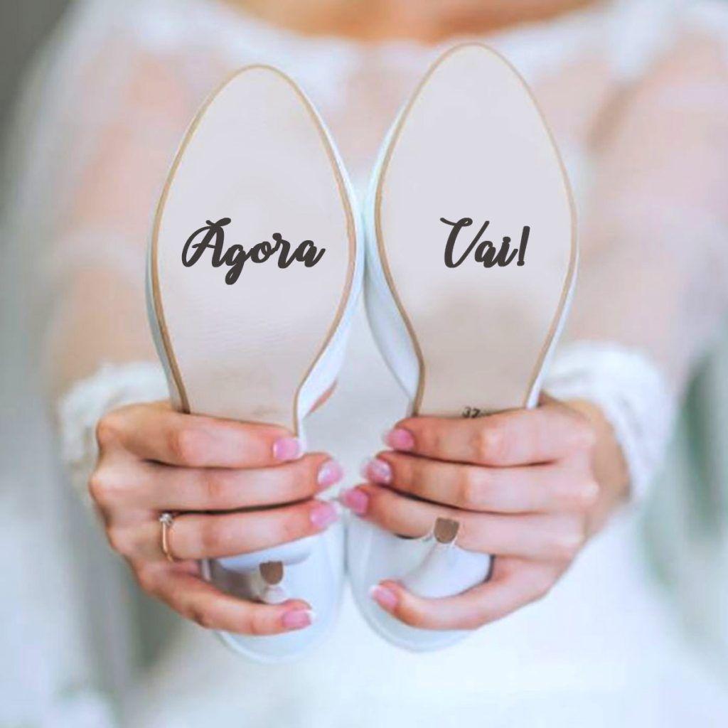 adesivo de sapato de noiva