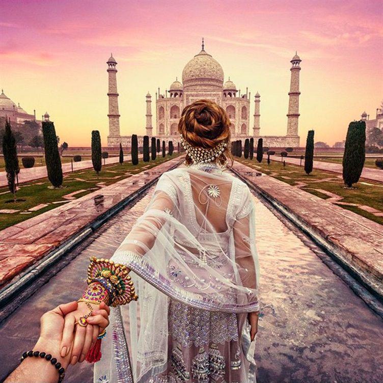 Taj Mahal em Agra, parte da frente - Follow Me Project by Murad Osmann