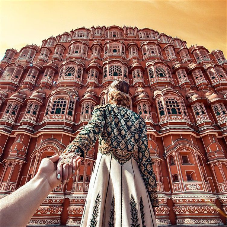 Hawa Mahal, Palácio do ventos - Follow Me Project by Murad Osmann
