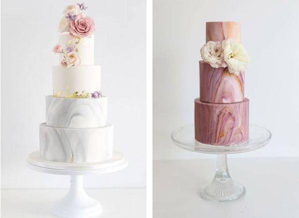 bolo-marmorizado Bolo de casamento o destaque da mesa de doces
