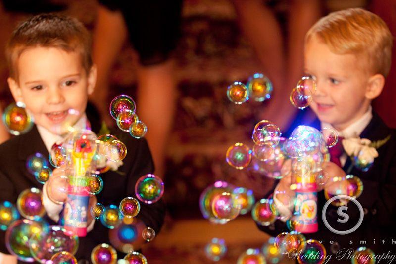 pajem com bolhas de sabão