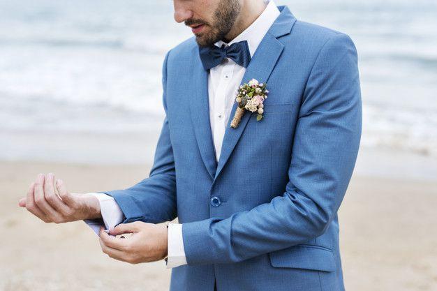 noivo-estiloso-terno-azul Noivo estiloso: como ousar e ser original no dia do casamento