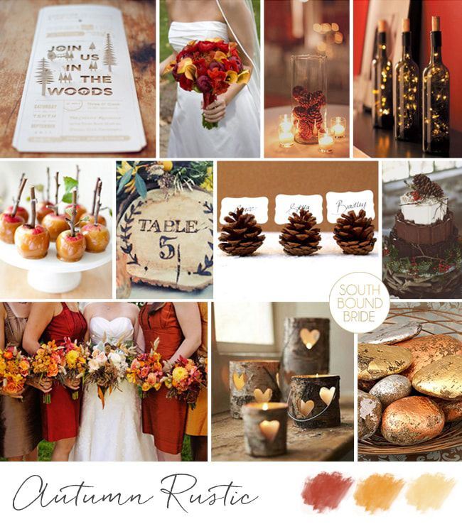 Autumn-Rustic As Cores do casamento, inspire-se!