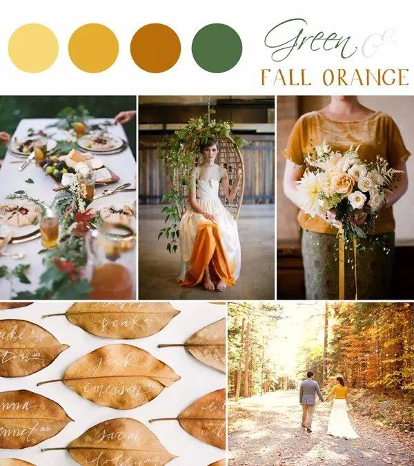 green-orange As Cores do casamento, inspire-se!
