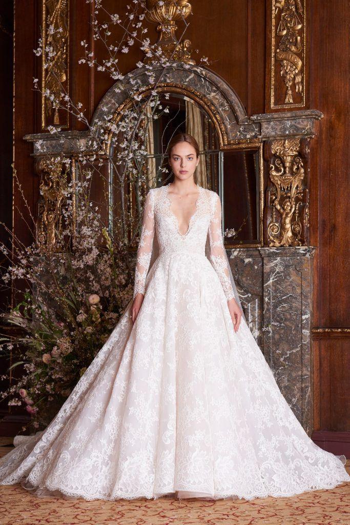 monique-lhuillier-683x1024 Primavera e Verão: tendências de vestido de casamento para 2020