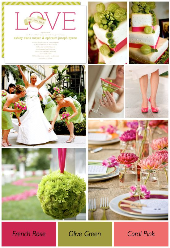 pink-and-green-wedding As Cores do casamento, inspire-se!