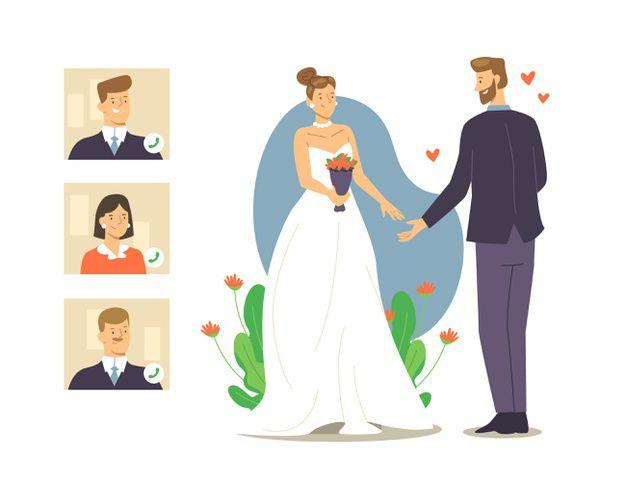 cerimonia de casamento online