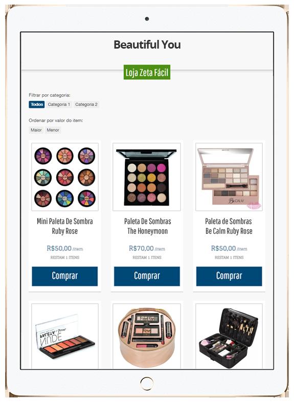 tablet_maquiagem Como abrir uma loja online de maquiagem com pouco dinheiro